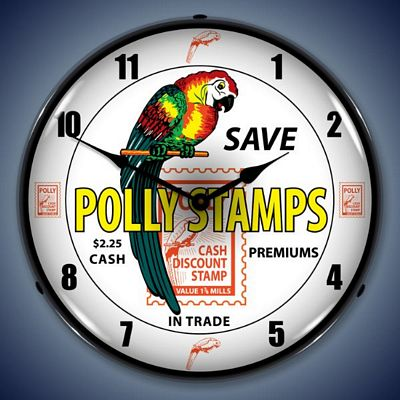 Polly Stamps Lighted Wall Clock
