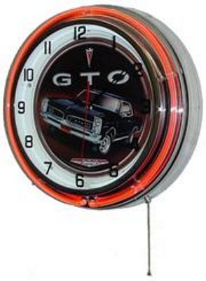 Pontiac GTO Double Neon Wall Clock