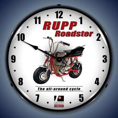 Rupp Roadster Lighted Wall Clock