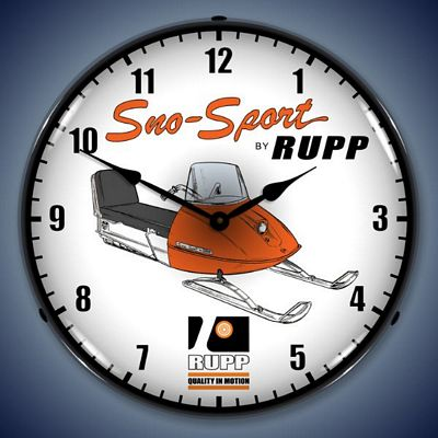Rupp Snowmobile Lighted Wall Clock