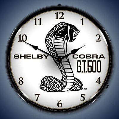 Shelby Cobra GT500 Lighted Wall Clock