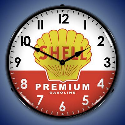 Shell Premium Gas Lighted Wall Clock