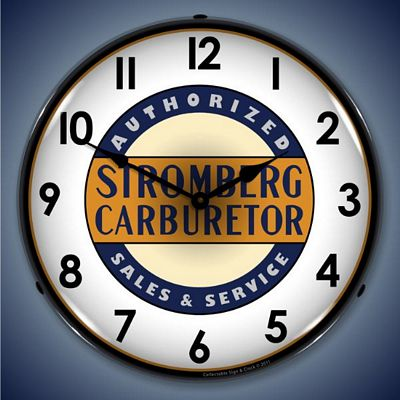 Stromberg Carburetors Sales And Service Lighted Wall Clock