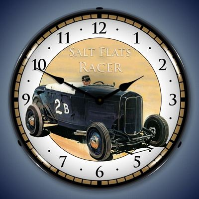 Salt Flats Racer Lighted Wall Clock