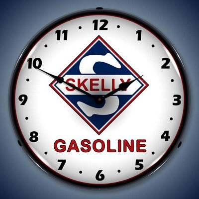 Skelly Gasoline Lighted Wall Clock