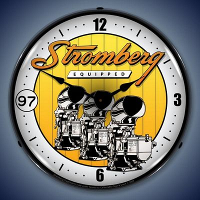 Stromberg Carburetors Lighted Wall Clock