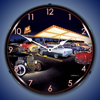 Bruce Kaiser Teds Drive In Lighted Wall Clock
