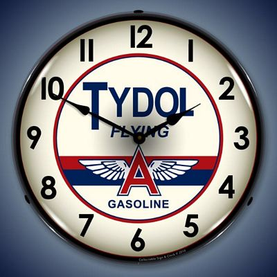 Tydol Gasoline Lighted Wall Clock
