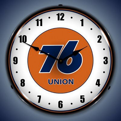 Union 76 Gas Station Lighted Wall Clock Union76gasstation