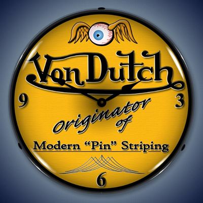Von Dutch Lighted Wall Clock