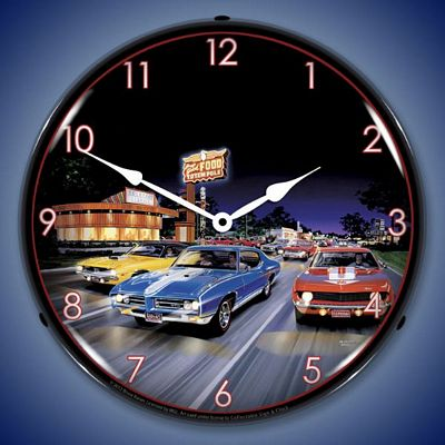 Bruce Kaiser Woodward Avenue Lighted Wall Clock - WOODWARDAVENUE
