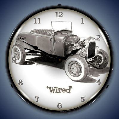 Wired Lighted Wall Clock