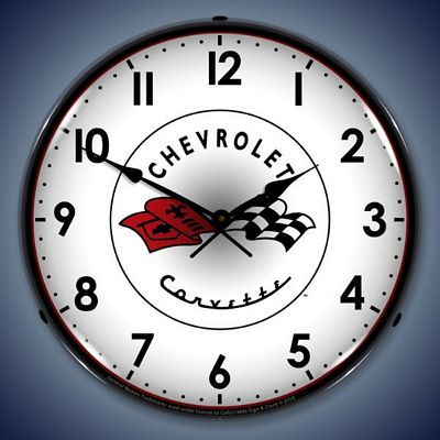 C1 Corvette Lighted Wall Clock