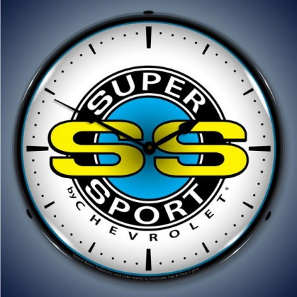 Chevrolet Super Sport Lighted Wall Clock