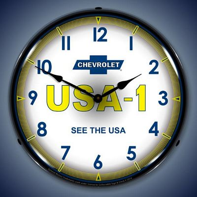 Chevrolet USA 1 Lighted Wall Clock