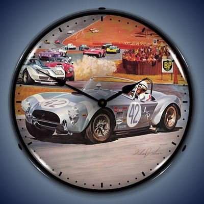 Cobra Racing Lighted Wall Clock