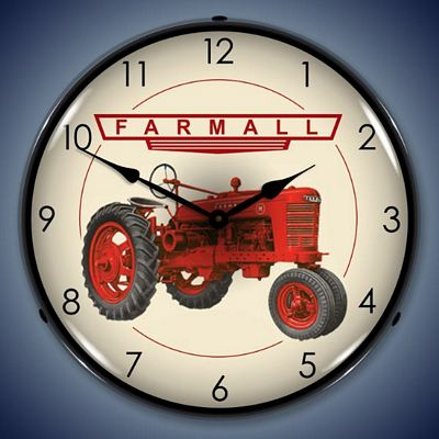 Farmall Tractors Lighted Wall Clock