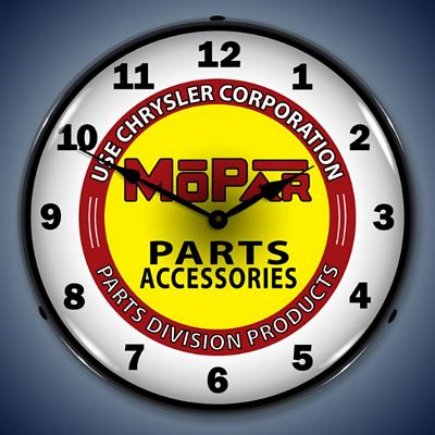 Chrysler Mopar Parts Lighted Wall Clock