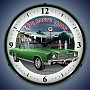 1970 Green Monte Carlo Lighted Wall Clock