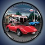 1974 Corvette Lighted Wall Clock