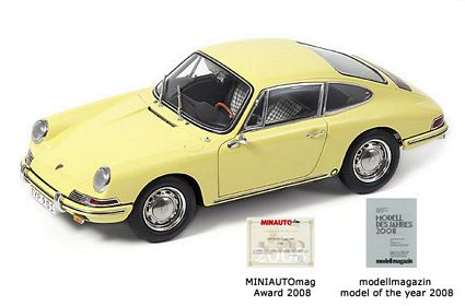 1964 Porsche 901 Champagne Yellow Limited Edition Die-Cast 1:18 Scale Model Car by CMC
