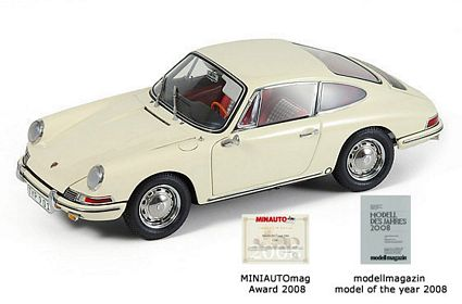 1964 Porsche 911 Light Ivory Die-Cast 1:18 Scale Model Car by CMC