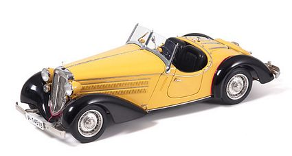 Audi 225 Front Roadster Black And Yellow Limited Edition Die-Cast 1:18 Scale Model Car by CMC