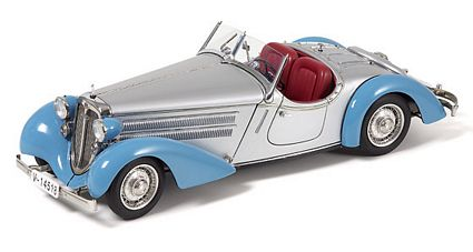 Audi 225 Front Roadster Blue And Silver Limited Edition Die-Cast 1:18 Scale Model Car by CMC