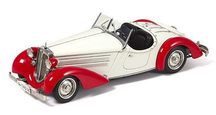 Audi 225 Front Roadster Red And White Limited Edition Die-Cast 1:18 Scale Model Car by CMC
