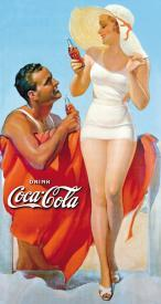Coca-Cola At The Beach Tin Sign