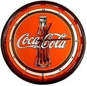 Coca-Cola Logo Sign Neon Wall Clock