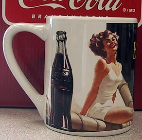 Coca-Cola Bathing Beauties 11 Ounce Mug - Be Refreshed