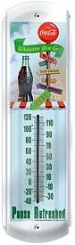 Coca-Cola Wherever You Go Metal Thermometer