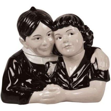 Little Rascals Alfalfa And Darla Hugging Cookie Jar