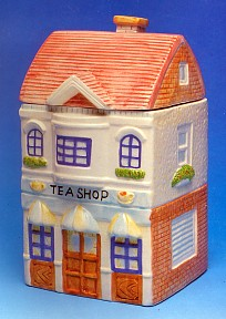 Country Village Tea Shop Cookie Jar
