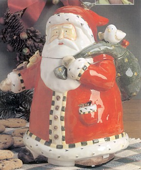 Santa With Friends Cookie Jar Designed By Debi Hron