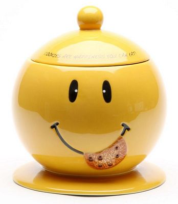 Happiness You Can Eat Smiley Face Cookie Jar
