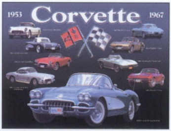 1953 To 1967 Corvette Collage Metal Sign