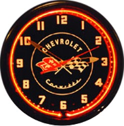 Corvette 1953/1954/1955 Model Years Neon Wall Clock