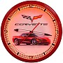 Corvette C6 Red Neon Wall Clock