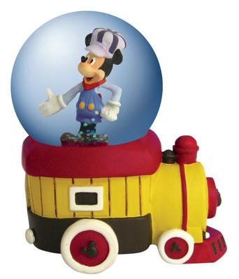 Disney Mickey Inspearations All Aboard Mickey Mouse Mini Waterglobe