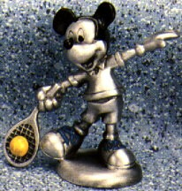 Mickey Tennis Pewter Figurine