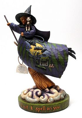 Jim Shore Heartwood Creek Witch On Cloud Figurine