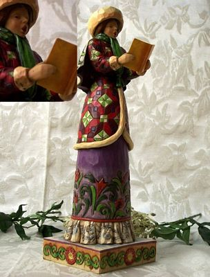 Jim Shore Heartwood Creek Caroler Woman Figurine