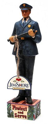 Jim Shore Heartwood Creek Police Officer Figurine