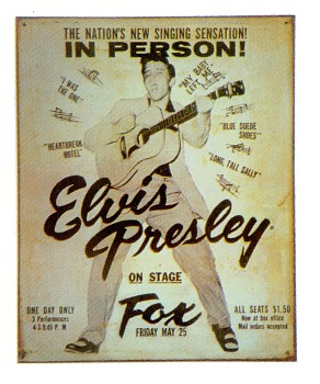 Elvis At The Fox Vintage Style Metal Sign