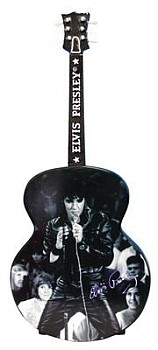 Elvis Presley Don't Be Cruel Black Suit Musical Guitar Shaped Figurine