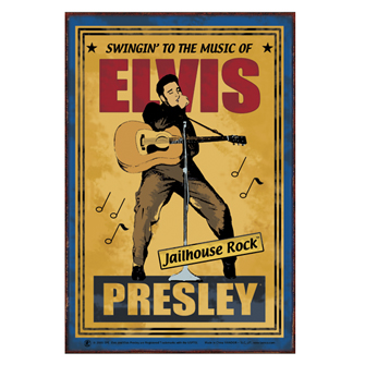 Elvis Presley Jailhouse Rock Vintage Style Metal Sign