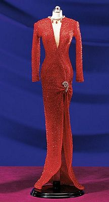 Marilyn Monroe Red Evening Gown - Gentlemen Prefer Blondes By The Franklin Mint