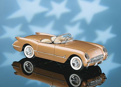 1955 CHEVROLET CORVETTE LIMITED EDITION DIE-CAST 1:24 SCALE MODEL BY THE FRANKLIN MINT